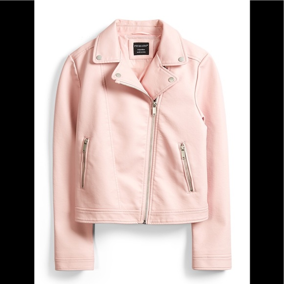f67ca0912 NWOT Pink Faux Leather Jacket